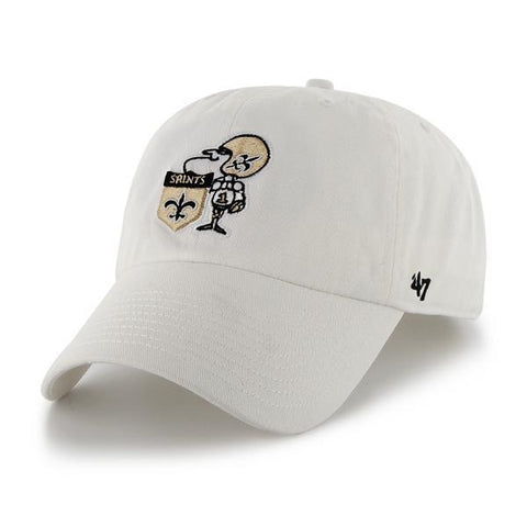 New Orleans Saints Hat Retro Logo NEW '47 Brand White