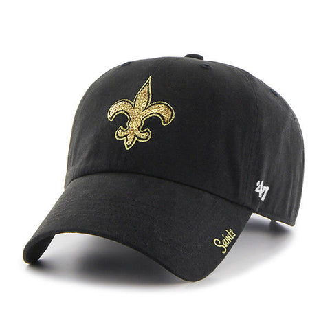 New Orleans Saints Hat Women's Sparkle NEW '47 Brand