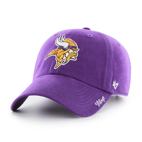 Minnesota Vikings Hat Women's Sparkle NEW '47 Brand