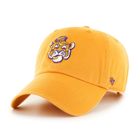 LSU Tigers Retro Logo Hat NEW '47 Brand Clean Up