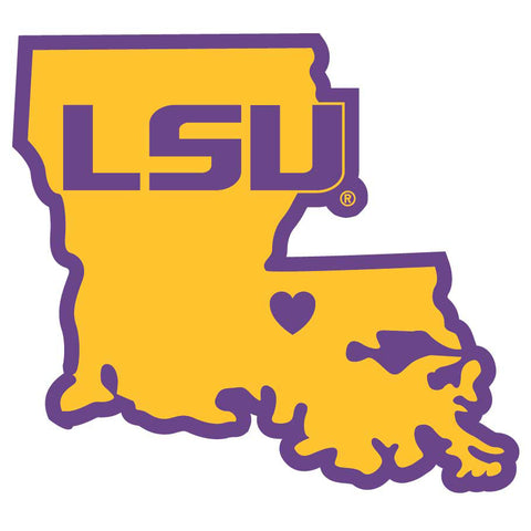 LSU Tigers Die Cut Magnet State Outline NEW NCAA Free Shipping!