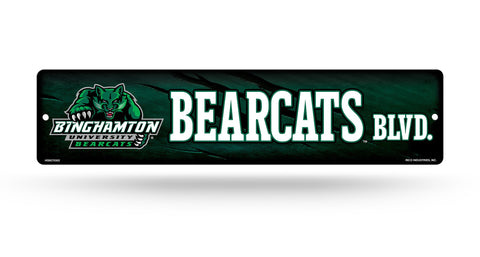 "Binghamton Bearcats Street Sign NEW! 4""X16"" ""Bearcats Blvd."" Man Cave NCAA"