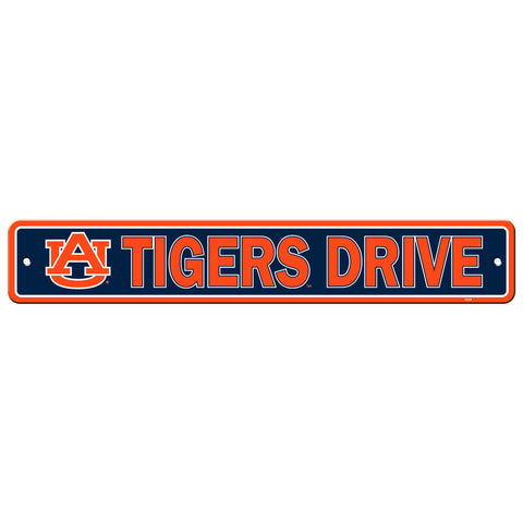 "Auburn Tigers Street Sign NEW! 4""x24"" ""Tigers Drive"" Man Cave Free Shipping"