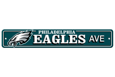 "Philadelphia Eagles Street Sign NEW! 4""X 24"" ""Eagles Ave."" Man Cave NFL"