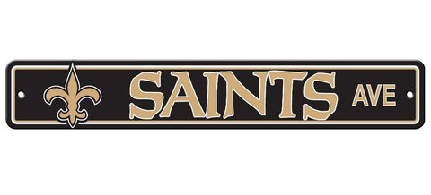 "New Orleans Saints Street Sign NEW! 4""X 24"" ""Saints Ave"" Man Cave NFL"