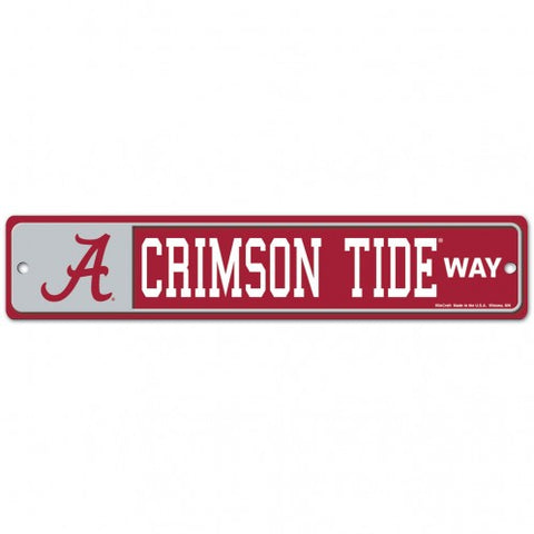 "Alabama Crimson Tide Street Sign NEW! 4""X 19"" ""Crimson Tide Way"" Man Cave"