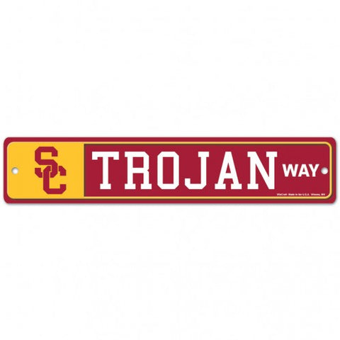 "USC Trojans Street Sign NEW! 4""X 19"" ""Trojan Way"" Man Cave"
