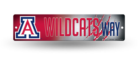 "Arizona Wildcats Street Sign NEW! 4""X16"" ""Wildcats Way"" Man Cave NCAA"