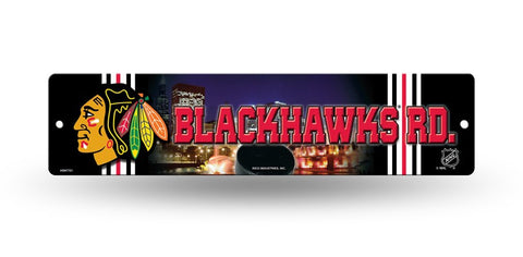 "Chicago Blackhawks Street Sign NEW! 4""X16"" ""Blackhawks Rd."" Man Cave NHL"