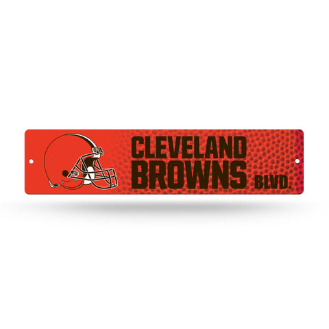 "Cleveland Browns Street Sign NEW!! 4""X16"" ""Cleveland Browns Blvd."" Man Cave NFL"