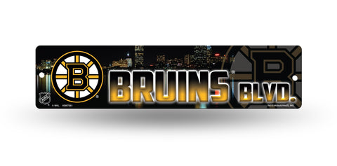 "Boston Bruins Street Sign NEW! 4""X16"" ""Bruins Blvd."" Man Cave NHL"