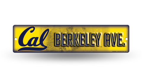 "Cal Golden Bears Street Sign NEW 4""X16"" ""Berkeley Ave."" Man Cave NCAA"