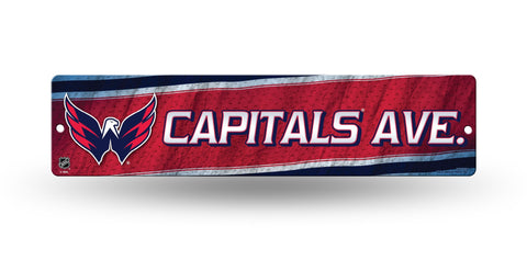 "Washington Capitals Street Sign NEW! 4""X16"" ""Capitals Ave."" Man Cave"