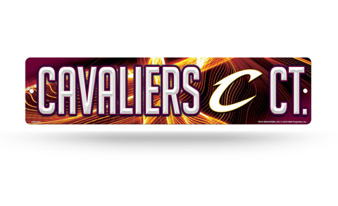 "Cleveland Cavaliers Street Sign NEW! 4""X16"" ""Cavaliers Ct."" Man Cave"
