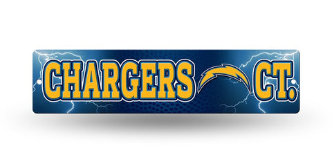 "San Diego Chargers Street Sign NEW! 4""X16"" ""Chargers Ct."" Man Cave NFL"