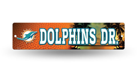 "Miami Dolphins Street Sign NEW! 4""X16"" ""Dolphins Dr."" Man Cave NFL"