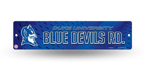 "Duke Blue Devils Street Sign NEW! 4""X16"" ""Blue Devils Rd."" Man Cave NCAA"