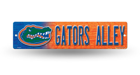 "Florida Gators Street Sign NEW! 4""X16"" ""Gators Alley"" Man Cave NCAA"