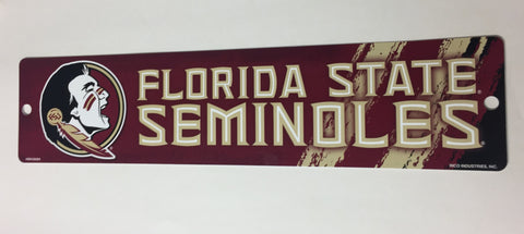 "Florida State Seminoles Street Sign NEW 4""X16"" Man Cave NCAA"