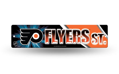 "Philadelphia Flyers Street Sign NEW! 4""X16"" ""Flyers St."" Man Cave"