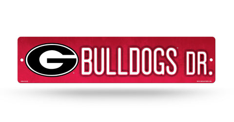 "Georgia Bulldogs Street Sign NEW! 4""X16"" ""Bulldogs Dr."" Man Cave NCAA"