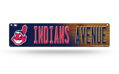 "Cleveland Indians Street Sign NEW! 4""X16"" ""Indians Avenue"" Man Cave MLB"