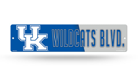 "Kentucky Wildcats Street Sign NEW! 4""X16"" ""Wildcats Blvd."" Man Cave NCAA SEC"