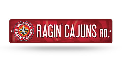 "Louisiana Ragin Cajuns Street Sign NEW! 4""X16"" ""Ragin Cajuns Rd."" Man Cave NCAA"