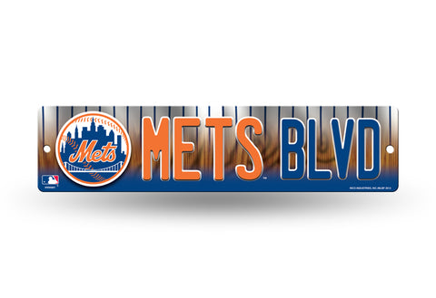 "New York Mets Street Sign NEW! 4""X16"" ""Mets Blvd"" Man Cave MLB"