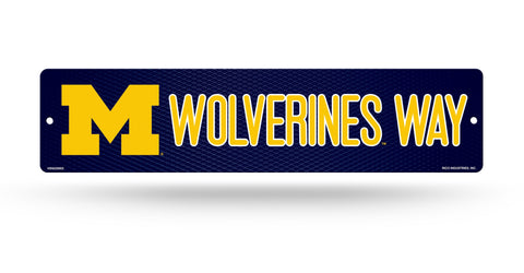 "Michigan Wolverines Street Sign NEW! 4""X16"" ""Wolverines Way"" Man Cave NCAA"
