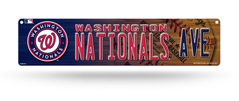 "Washington Nationals Street Sign NEW! 4""X16"" ""Nationals Ave."" Man Cave"