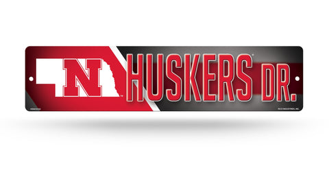 "Nebraska Huskers Street Sign NEW! 4""X16"" ""Huskers Dr."" Man Cave NCAA"