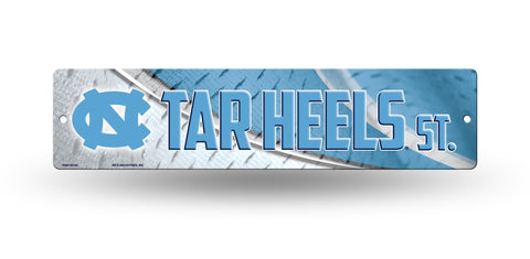 "North Carolina Tar Heels Street Sign NEW! 4""X16"" ""Tar Heels St."" Man Cave NCAA"