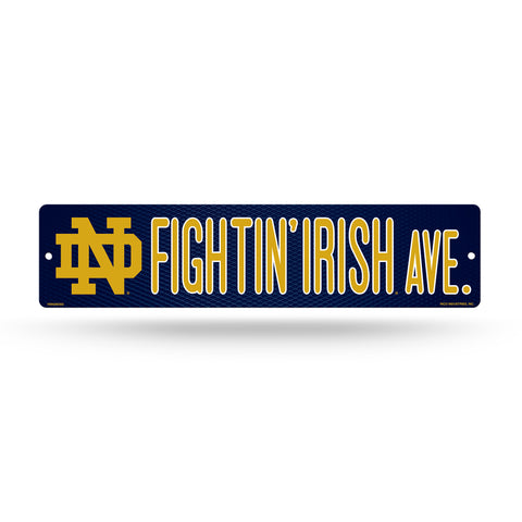 "Notre Dame Fightin' Irish Street Sign NEW! 4""X16"" ""Fightin' Irish Ave."" Man Cave NCAA"
