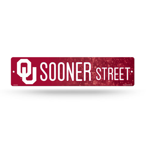 "Oklahoma Sooners Street Sign NEW! 4""X16"" ""Sooner Street."" Man Cave NCAA"