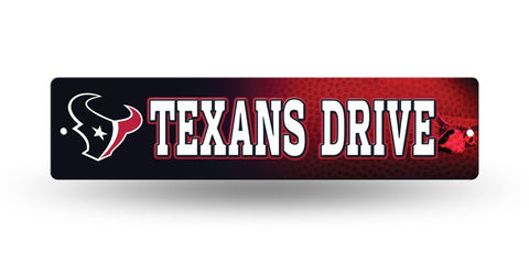 "Houston Texans Street Sign NEW! 4""X16"" ""Texans Drive"" Man Cave NFL"