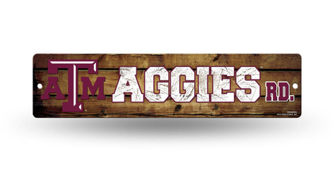 "Texas A&M Aggies Street Sign NEW 4""X16"" ""Aggies Rd."" Man Cave NCAA"