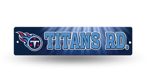 "Tennessee Titans Street Sign NEW! 4""X16"" ""Titans Rd."" Man Cave NFL"