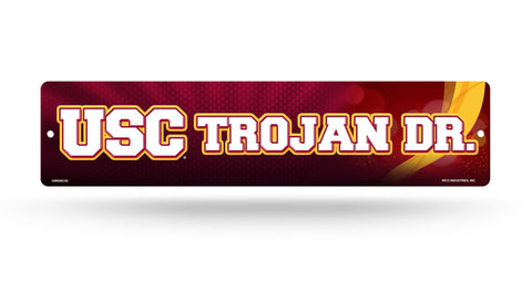"USC Trojans Street Sign NEW! 4""X16"" ""Trojan Dr."" Man Cave NCAA"