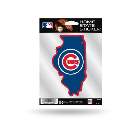 Chicago Cubs State Outline Die-Cut Decal NEW!!!