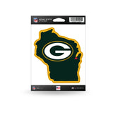 Green bay Packers State Outline Die-Cut Decal NEW!!!