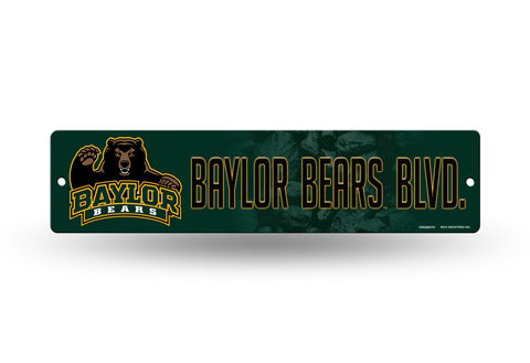 "Baylor Bears Street Sign NEW! 4""X16"" ""Baylor Bears Blvd."" Man Cave NCAA"