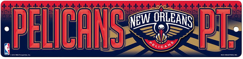 "New Orleans Pelicans Street Sign NEW! 4""X16"" ""Pelicans Pt."" Man Cave NBA"