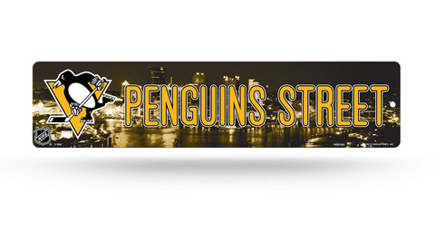 "Pittsburgh Penguins Street Sign NEW! 4""X16"" ""Penguins Street"" Man Cave NHL"