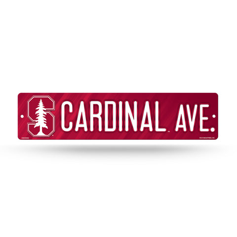 "Stanford Cardinal Street Sign NEW! 4""X16"" ""Cardinal Ave."" Man Cave NCAA"