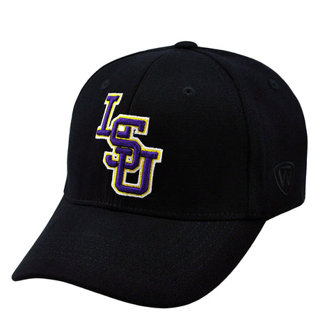 LSU Tigers Hat NEW Black Memory Fit Top of the World