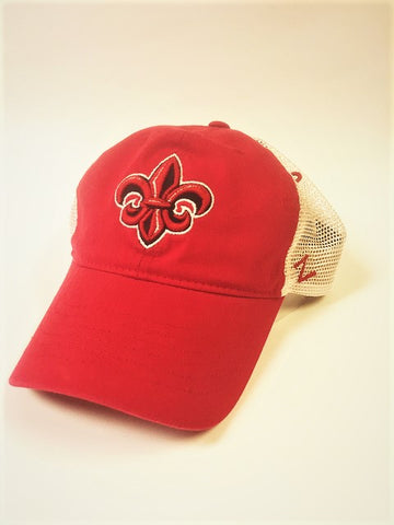 Louisiana Ragin Cajuns Hat NEW Red Trucker Zephyr