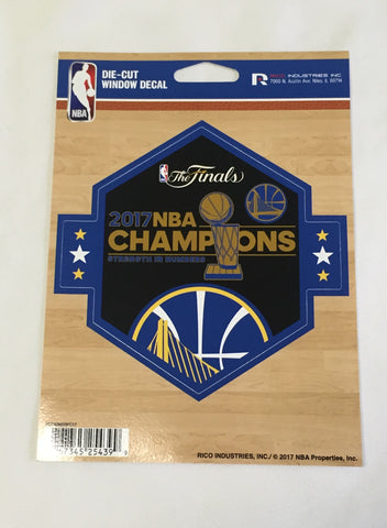 Golden State Warriors NBA Champions Die Cut Decal NEW 5 X 5 Window or Car!!! Laptop
