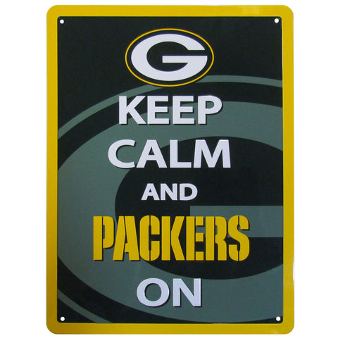 Green Bay Packers Keep Calm and Packers On Aluminum Sign NEW!!