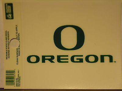 Oregon Ducks Static Cling Sticker NEW!! Window or Car! NCAA